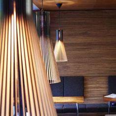 SECTO - Lampa wisząca Drewno Czarny L Secto Design