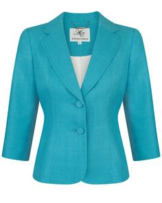 @suzieshort - Maybe not this exact one (it's great quality but expensive) but the colour and style would be great for you. Capri Silk Tailored Jacket | Anthea Crawford