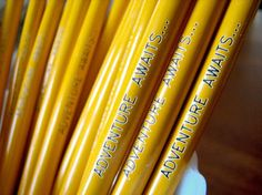 yellow pencils- reminds me of @bex buchanan and her inspirational quotes on those awesome pencils.