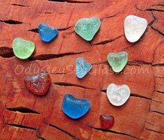 HEARTFELT HOPES Sea Glass ~ rare heart-shaped natural beach glass - from the tropical coast of Peru