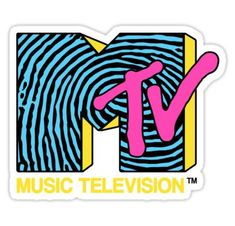 High quality Mtv inspired laptop stickers by independent artists and designers from around the world. Bubble Stickers, Cool Stickers, Laptop Stickers, Bumper Stickers, Mtv, Logo Sticker, Sticker Design, 80s Design, Logo Design