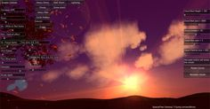 Volumetric clouds - sunset