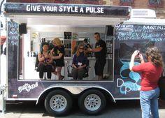mobile beauty salon | ... Give your style a pulse' . . . a mobile beauty salon on John Street