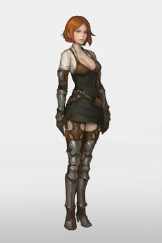 Female character concept, fantasy character design, game character, rogue c Female Character Design, Character Creation, Character Design Inspiration, Character Art, Rogue Character, Dnd Characters, Fantasy Characters, Female Characters, Fantasy Women