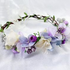 Flower Headpiece, Headpiece Wedding, Sweet 16 Party Decorations, Prom Hair Accessories, Clothing Accessories, Crown For Women, Corsage And Boutonniere, Fabric Wreath, Crown Headband