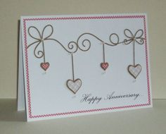 Memory Box dies- Precious Hearts 98474, Corner Bow 98371 Ella's Design: Clean and simple...