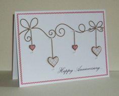 Memory Box dies- Precious Hearts 98474, Corner Bow 98371 Ella's Design: Clean and simple...