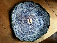 Plat du jour.  Ruan Hoffman's clay plates.