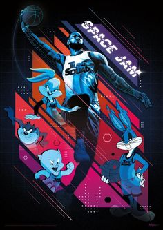 Lebron James Poster, Lebron James Lakers, Football Today, Tune Squad, Merrie Melodies, Online Posters, Space Jam, Slam Dunk, Looney Tunes