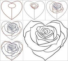 Wonderful Idea For Drawing A Beautiful Rose Rose Tutorials and