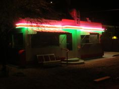 Cool, huh? this was taken at the Shady Dell trailer park near Bisbee, Arizona, where people can spend the night in vintage trailers from the fifties. This is their diner/museum.