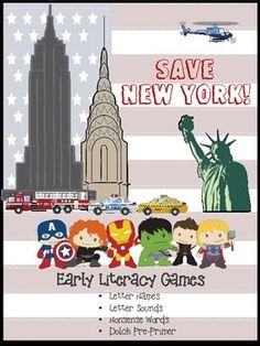 Take advantage of the Super Hero craze and develop early literacy skills at the same time!  This simple game will allow your students to practice letter names (upper and lower), letter sounds, nonsense words, and the Dolch Pre-Primer list.  Perfect for 4-6 year-olds and small groups.