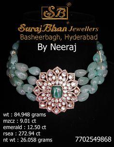 Emerald Jewelry, Gems Jewelry, Pearl Jewelry, Beaded Jewelry, Jewelry Necklaces, Beaded Bracelets, Indian Bridal Jewelry Sets, Bridal Jewellery, Indian Jewelry