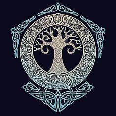 40 Ideas For Norse Tree Of Life Tattoo Vikings Fenrir Tattoo, Norse Tattoo, Celtic Tattoos, Viking Tattoos, Maori Tattoos, Polynesian Tattoos, Yggdrasil Tattoo, Filipino Tattoos, Tribal Tattoos