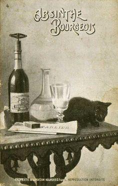 Absinthe Postcards at The Virtual Absinthe Museum: Cressonnee, Cusenier, Absinthe Bourgeois