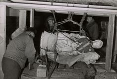 The real Monuments Men rescuing Michelangelo's Madonna and Child in an underground Altaussee German mine.