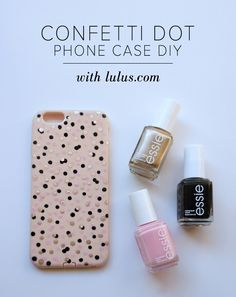 DIY Confetti Dot Phone Case Tutorial