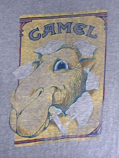 CAMEL Shirt 80's Vintage Cigarrette Ad SUPER Soft Thin USA 50/50 Poly/Cotton M #Ched #GraphicTee