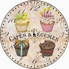 PAPIROLAS COLORIDAS: Relojes para la cocina
