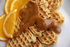 Waffles with orange syrup