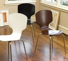 Building Green in Vermont: Modern dining chairs