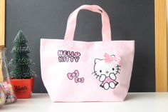 Hello Kitty Women's Handbags Cotton Canvas Lady's Bag  Women Messenger Bags Clutch Crossbody Bags For Women