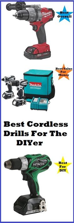 Our experts review and compare the top cordless drills to find the best drill for the DIYer. Read the full article on: http://www.thediyhubby.com/cordless-drill-reviews/