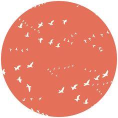 Birch Organic Fabrics, DOUBLE GAUZE, Flight Coral