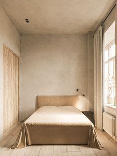 Qué tal solo una lámpara ❤️Minimalistic rustic home with soft textures and neutral palette designed by Evgeniy Bulatnikov Minimalist Home Interior, Minimalist Decor, Modern Interior Design, Minimalist House, Interior Office, Interior Colors, Minimalist Bedroom, Interior Paint, Home Decor Styles