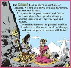 The amar chitra katha studio - tales of shiva and his famous Trishul. Hindu Rituals, Hindu Mantras, Vedic Mantras, Shiva Tandav, Rudra Shiva, Hindu Vedas, Hindu Deities, Shiva Lord Wallpapers, Hindu Culture