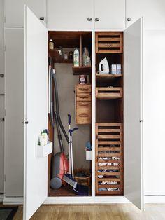 broom closet.