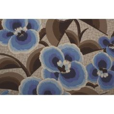 Blue Art Deco Floral Wallpaper Sample Art ($179) ❤ liked on Polyvore featuring home, home decor, wallpaper, flower pattern wallpaper, blue home accessories, floral home decor, blue home decor and paper wallpaper