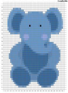 elephant knit chart