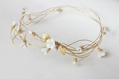 10 Embellished Headbands That Can Beautify Your Bedhead #refinery29  http://www.refinery29.com/tiaras#slide8  Elibre Bridal Head Piece, $84.95, available at Etsy.