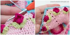 Crochet Borders How to Crochet Rose Border - a free crochet tutorial Crochet Border Patterns, Crochet Motif, Irish Crochet, Crochet Designs, Free Crochet, Simple Crochet, Crochet Granny, Crochet Puff Flower, Crochet Flowers
