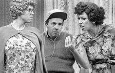 The Carol Burnett Show, featuring from left: Vicki Lawrence, Tim Conway, and Carol Burnett.