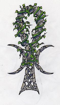 Wiccan Tattoos   Wiccan Ankh Colored by lilmoongodess Wiccan Designs tattoo design, art ...