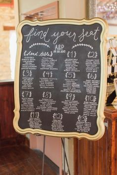 Chalkboard seating c