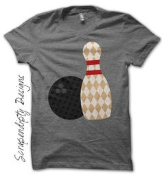 Bowling Iron On Transfer Pattern – Kids Bowling Shirt / Bowling Birthday Party Favor / Women's Tee