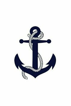 Nautical Clip Art Anchor Black And White With Rope Clipart - Free . Nautical Anchor, Nautical Theme, Navy Anchor, Nautical Clipart, Nautical Sayings, Nautical Banner, Anchor Rope, Nautical Stripes, Nautical Rope