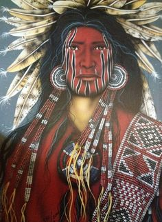 Dog Soldier [Henry Peters] Native American Face Paint, Native American Warrior, Native American Images, Native American Paintings, Native American Artifacts, American Indian Art, Native American Tribes, Indian Paintings, Native Americans