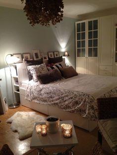 -)) The post Neues Bett Ikea Brimnes ;-)) appeared first on Bett ideen. Classy Bedroom, Brimnes Bed, Bedroom Design, Living Room Decor, Bedroom Inspirations, Bedding Inspiration, Interior Design Living Room, Bedroom Layouts, Ikea Bedroom