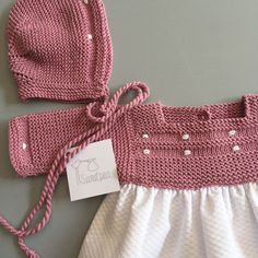 Baby Clothes Patterns, Baby Knitting Patterns, Knitting Designs, Handmade Baby Clothes, Knitted Baby Clothes, Baby Girl Crochet, Newborn Crochet, Baby Summer Dresses, Baby Dress