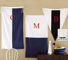 Love these! Vintage Nautical Flags | Pottery Barn Kids #pinparty
