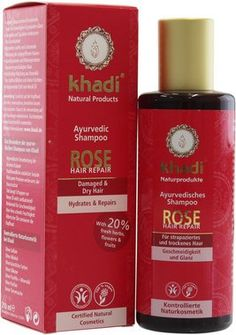 KHADI - Rose Hair Repair Shampoo - for Healthy and Moisturised Hair and Scalp - Makes hair glossy and shiny Balances the sebum production of the scalp -- Visit the image link more details. (This is an Amazon affiliate link)
