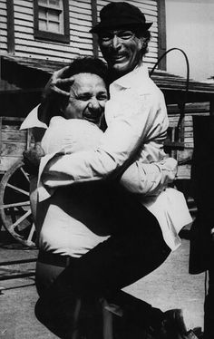 Lee Van Cleef and Sergio Leone.