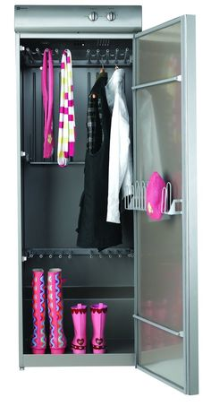 As a wardrobe, use the Maytag Drying cabinet. A way of drying clothes after handwashing, and keeping them dry and free of mold - especially in humid climates.