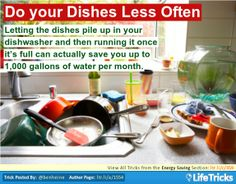 Energy Saving - Do your Dishes Less Often