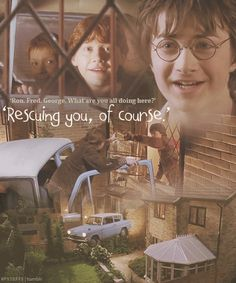 """""""Ron. Fred. George. What are you all doing here?"""" """"Rescuing you, of course."""""""