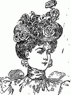 """""""Hat of blue straw, bergére shape"""" from the Auckland Star, November 1898"""